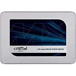 Crucial MX500 CT2000MX500SSD1(Z) - Disco Duro sólido Interno SSD de 2 TB (3D NAND, SATA, 2.5 Pulgadas)