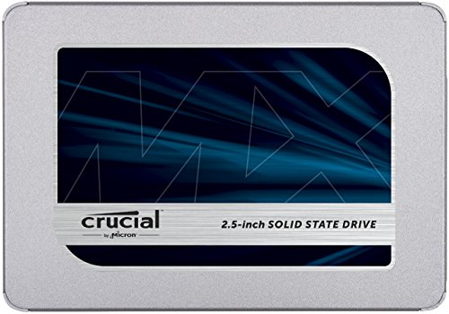 Crucial MX500 CT500MX500SSD1(Z) - Disco Duro Sólido Interno SSD de 500 GB (3D NAND, SATA, 2.5 Pulgadas)