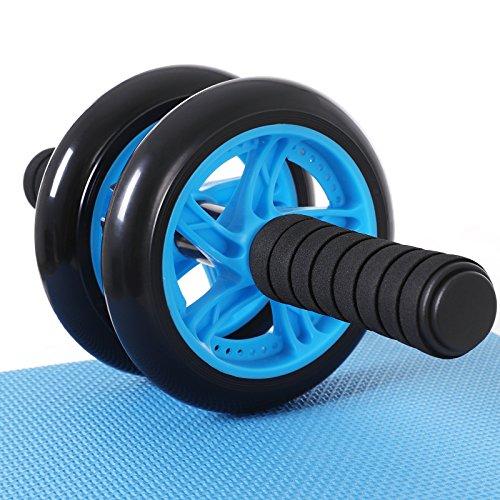 SONGMICS AB Roller Bauchtrainer AB Wheel für Fitness Bauchmuskeltraining Muskelaufbau Bauchroller für Frauen und Männer (Blau)