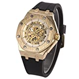 Watches, Men's Sport Watches, Automatic Mechanical Wristwatch, Rubber Strap Stainless Steel dial Classic Watch