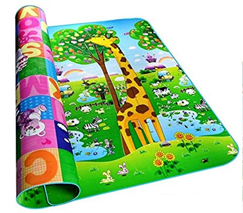 Toys N Smile Waterproof, Double Side Printed Baby Crawling Play Mats Carpet (Multicolour, 120 x 180 cm)