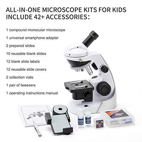 Swift SS30 60X-200X Kit d'agrandissement pour Enfant avec Adaptateur Universel pour Smartphone et 39 Accessoires Inclus Vide et Films pré-as... 26