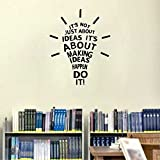 Rawpockets Decal 'Idea' (Material-Vinyl, Wall Coverage Area - Height 46Cm X Width 58Cm) ( Pack Of 1 ) Wall Sticker