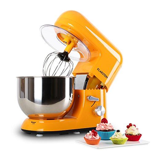 KLARSTEIN Klarsteinstein Bella Orangina - Robot da Cucina, Mixer, impastatrice, 1200 W, 6 PS, 5,2 L,...