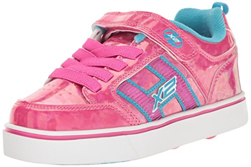 Heelys X2 Bolt Plus, Zapatillas de Deporte para Niñas, Rosa (Hot Pink Hologram / Neon Blue), 30 EU
