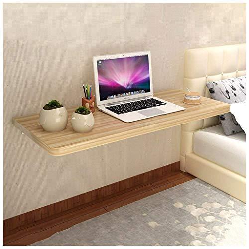 SHELFDQ Mesa Plegable Plegable suspendida Mesa de Comedor Mesa de Comedor Espacio ahorrador Plegable Escritorio Convertible Moderno (Color : Color Madera, Tamaño : 80 * 40cm)