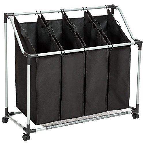 TecTake Wäschesortierer 4 Fächer