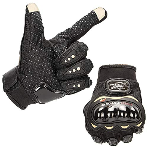 Fancytimes Motorrad Handschuhe Voller Finger Touchscreen-Handschuhe Herren Motorradhandschuhe Radfahren Rennen Motocross-Reithandschuhe Outdoor Sports 1
