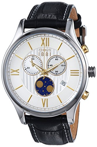 Cerruti 1881 Herren-Armbanduhr CHIOGGIA Analog Quarz Leder CRA119STU07BK
