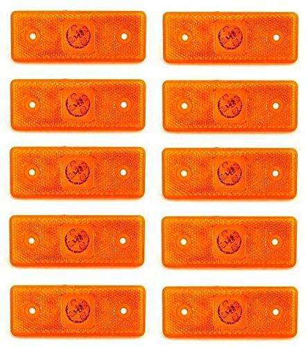 Luci di ingombro laterale, confezione da 10 pezzi, colore: arancione ambra, 24 V, 4 LED, per trailer, caravan, camion, autocarro, carrello