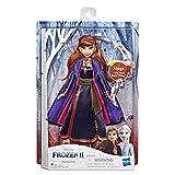 Hasbro Disney Frozen- Anna Cantante Bambola Elettronica con Abito Viola, Ispirato al Film Frozen 2, Multicolore, E6853IC0