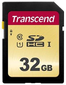 Transcend SDC500S - Tarjeta de memoria SDHC (32 GB) color dorado