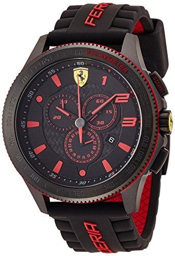 Scuderia Ferrari 0830138 Orologio da uomo al quarzo, con quadrante classico analogico e cinturino in...
