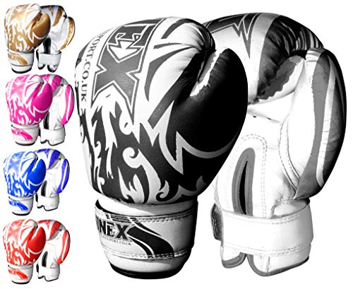 ONEX Guantoni da Boxe per Bambini Punzonatura dei Guanti Lotta di MMA Guanti Kickboxing Allenamento...