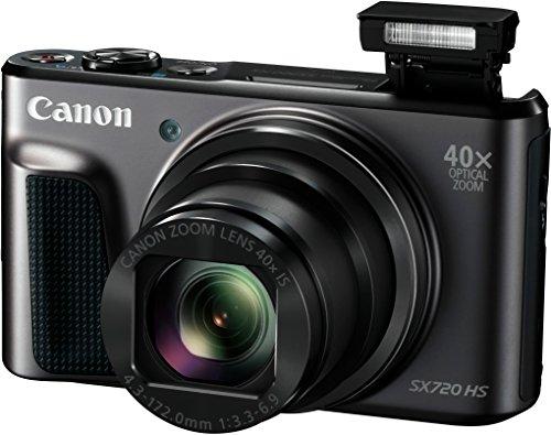 "Canon PowerShot SX720 HS - Cámara digital compacta de 20.3 MP (pantalla de 3"", zoom óptico 40x, estabilizador, video Full HD, WiFi), negro"