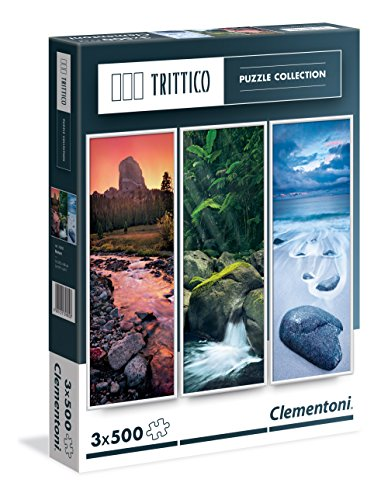 Clementoni - 39800 - Trittico Puzzle - Nature - 3 x 500 Pezzi