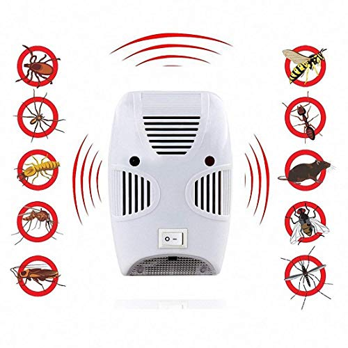 Luvina Electronic Bug Repellent Reject Ant,Ultrasonic Repellent,Mosquito, Rat, Roach, Flea, Rodent, Insect, Pest Repellent Indoor Plug in, Safe for Human and Pets Control