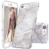 Designer Style iPhone 6 Marble effect hard back snap on case cover iM (Beige)
