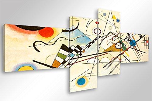 Quadro Moderno KANDINSKY COMPOSIZIONE VIII - cm 160x70 Stampa su Tela Canvas Arredamento Arte Arredo...