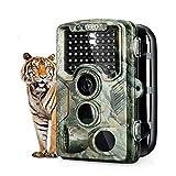 "ENKEEO Cámara de Caza Vigilancia 16MP, 1080P Trail Cámara IP56 Impermeable, 47pcs IR Leds Visión Nocturna hasta 20m, 2.4"" LCD Pantalla, 120°Sensor de Movimiento hasta 60m"