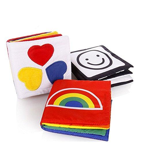 Gearmax Piccolo libro di Stoffa per neonato per lo sviluppo visivo, Set di libri di cancelleria...