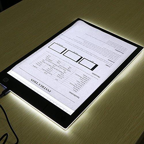 MYMM Tavoletta Luminosa,Scatola Luminosa LED,Animazione Tracer Light Box Disegno Copier scrivania...