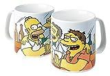 The Simpsons - Taza de desayuno XXL (hecho en porcelana, 850 ml), diseño del bar de Moe