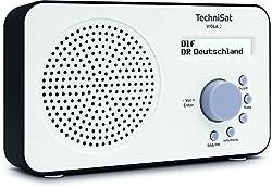 Kaufen TechniSat VIOLA 2 Digital-Radio (klein, tragbar) mit Lautsprecher, UKW, DAB+, zweizeiligem LC-Display und Tastensteuerung, weiß/schwarz