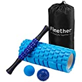 Finether-Rodillo de Espuma para Masaje Muscular Foam Roller Kit de Masajeador Bola de Masaje Rodillo...