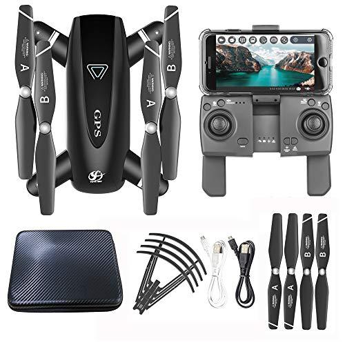Webla Per Drone S167 Quadricottero pieghevole RC grandangolare 5G WIFI FPV 1080P HD 120 ° GPS,Nero/Plastica