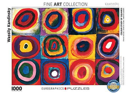 Eurographics 01323 - Kandinsky: studio colori dei quadrati - Puzzle 1000 pezzi