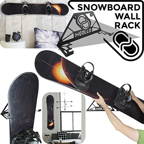 Snowboard wandhalterung (100{80310b0d6bc6533ba5f3bc23268396bac0a41d3f1bcf880ee340296c49b9c423} Stahl) (schwarz)