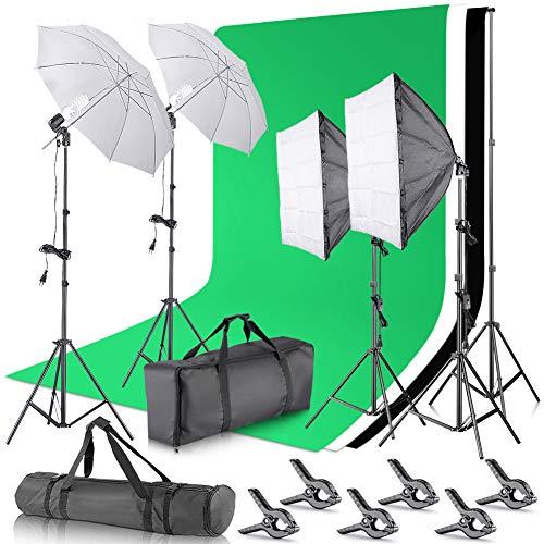 Neewer 2.6x3m Stand di Fondale Supporto per Sfondo Sistema da Studio Fotografico con 3x3.6m...