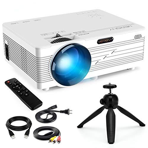 Merisny Uso Domestico Mini Proiettore 3500 Lumen Full HD, 32''-176'' Display, About 30 db Rumore...