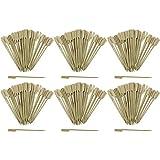 com-four® 300x Spiedini fingerfood in legno di bambù - Spiedini in legno con ampia superficie di presa per una presa migliore - ideale per buffet o gastronomia (300 pezzi - 15 cm con manico)