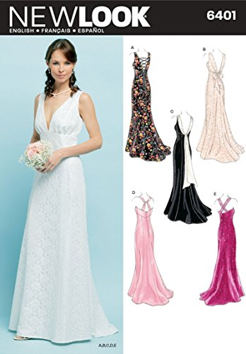 Simplicity Creative Group Inc - Patterns Sewing Pattern 6401 Misses Special Occasion Dresses, Size A (8-10-12-14-16-18)