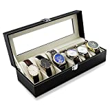 High End orologio display box scatola porta orologi per 6 orologi 32 x 11 x 8 cm