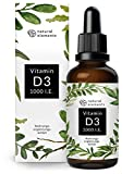 Vitamin D3 - Laborgeprüfte 1000 I.E. pro Tropfen - Mehrfacher Sieger 2018/2019* - 50ml (1750 Tropfen) - In MCT-Öl aus Kokos - Hochdosiert, flüssig und hergestellt in Deutschland