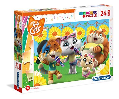 Clementoni Supercolor Puzzle-44 Gatti-24 Maxi Pezzi, Multicolore, 28500