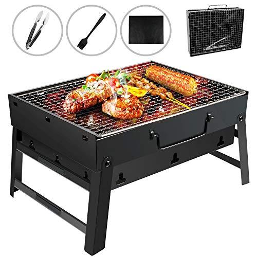 Gifort Barbecue Carbone Portatile, Barbecue Pieghevole per BBQ Barbecue e Rete Metallica BBQ in...