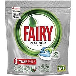Fairy Platinum Cápsulas para Lavavajillas - Pack de 32unidades