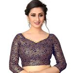 Bollyclues Women's Sana Silk Plain Solid Saree With Jacquard Blouse Piece (Sana_Free Size)