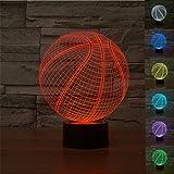 3D Illusion Bulbing Basketball Lamp Acrylic LED Night Light USB Table Desk Lamp