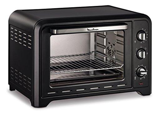 Moulinex Optimo OX4848 - Horno de convección (39 litros, 4 modos de cocción, termostato 240º C, temporizador 120 min), color negro