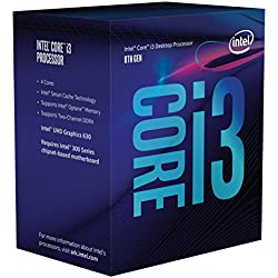 Intel Core i3 8300 - Procesador (3.7GHz, 8MB Cache, 1150MHz GPU, 62W) Color Plata