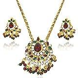 Surat Diamonds Gold Plated Pendant Set For Women Multi-Colour - PS4