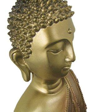 Figura buda iluminado de resina en color dorado y marrón   Tamaño: 29x13x40 cm   Portes gratis 8