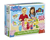 Peppa Pig - Set per creare personaggi 3D con il pongo, Multicolore