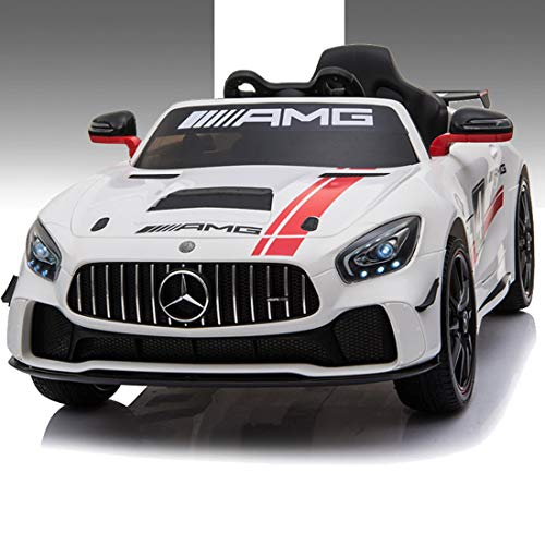 Baybee Mercedes Benz Baby Toy Car Rechargeable Battery Operated Ride on car for Kids/Baby with R/C Jeep Children Car Electric Motor Car Kids Cars,Baby Racing Car for Boys & Girls (White)