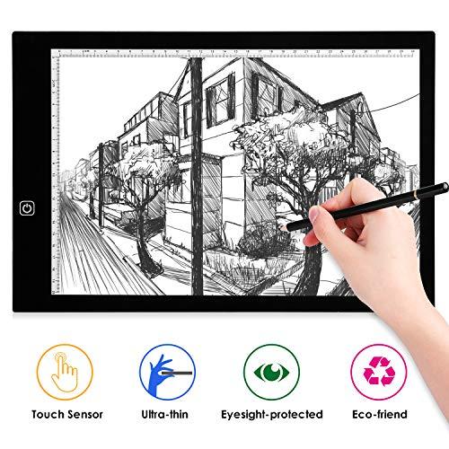 LED Tavoletta Luminosa A3, Light Board Tracing Light Box per Disegno Tattoo Pad Animazione, Schizzi,...
